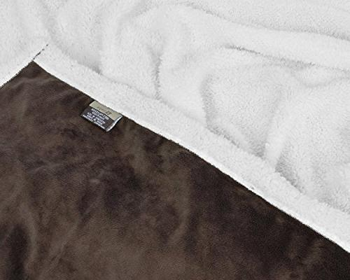 Napa Lounging Super Soft Warm Sherpa Wearable Blanket Sleeves 72 x - Brown