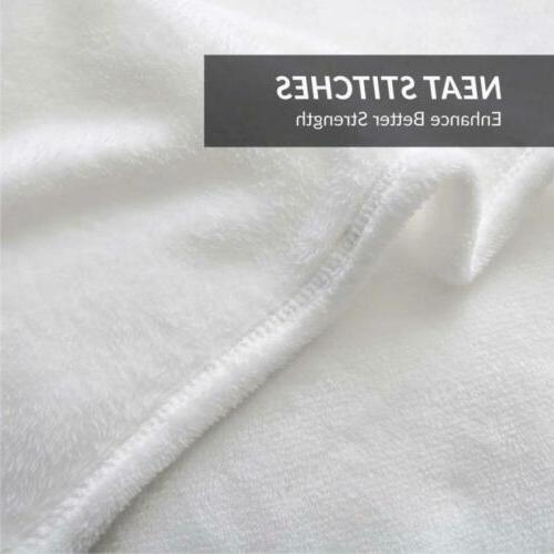 Luxury Bedsure Fleece White Size Cozy Plush