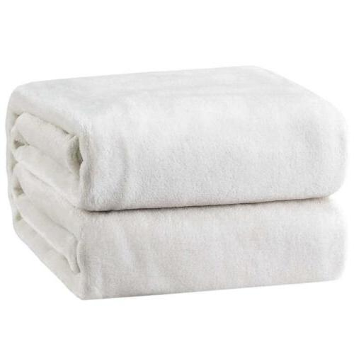 luxury blanket white twin bedsure flannel fleece