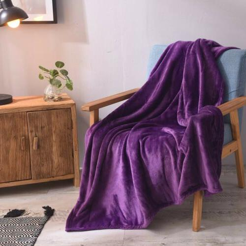 LUXURY Fleece Lightweight Size for Bed Couch Sofa