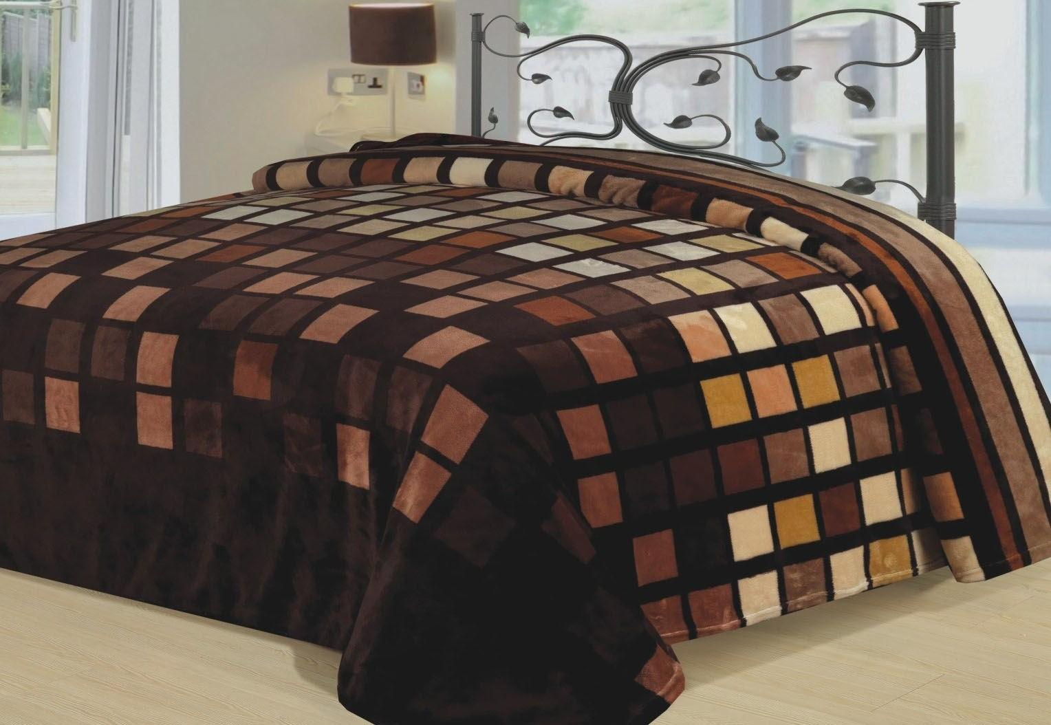 Throw Bedding Brown Beige