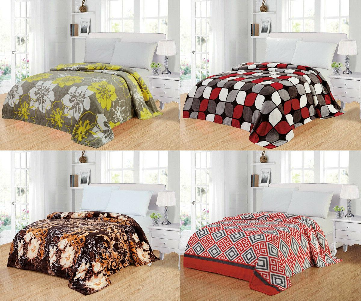 modern soft lightweight thin throw fleece blanket