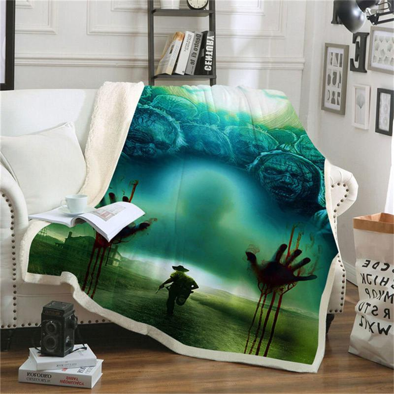 Pennywise Sherpa Couch <font><b>Bedding</b></font> Thick Tapestry