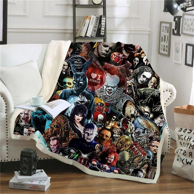 Movie Chapter Pennywise Couch Sofa Cover <font><b>Bedding</b></font> Thick Tapestry