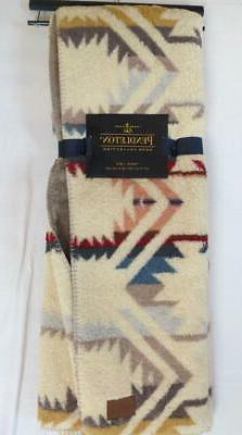 New NWT Blue Red Aztec Sherpa to Blanket