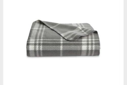 new throw blanket gray and white plaid