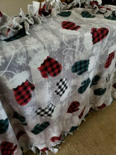 No YARDS~ Buffalo Plaid~Mittens~LARGE 60x72~