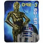 Northwest Blanket Co. S.L. Home Fashions Star Wars C-3PO & R
