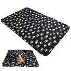 Paw Print Fleece Throw Blanket
