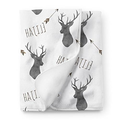 personalized deer fleece baby boys