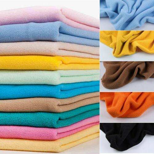 Plain Solid Color Polar Fleece Fabric Lining Blanket clothes