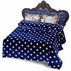 "Plush Bed Blankets Blankets, Cal  King Size 90"" 102"" Soft Wa"