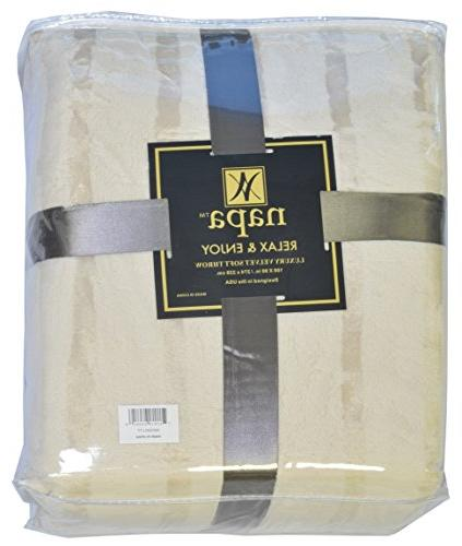 Napa Plush Cashmere Throw Blanket Latte, Luxury Fleece Couch Super and