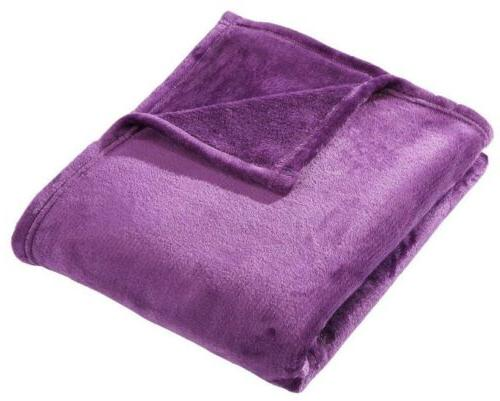 "Purple Velvet Fleece Lightweight 50"" x 60"""