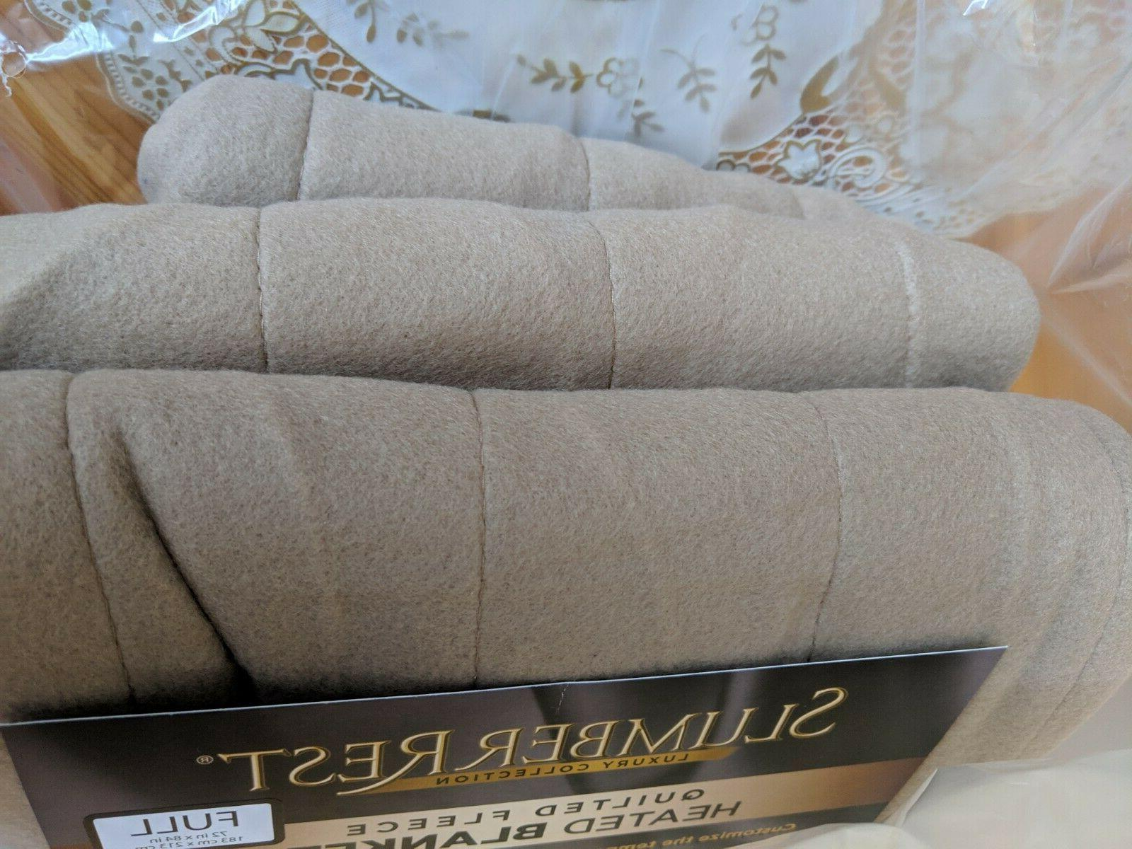 Sunbeam Quilted Electric Blanket Size - Mushroom