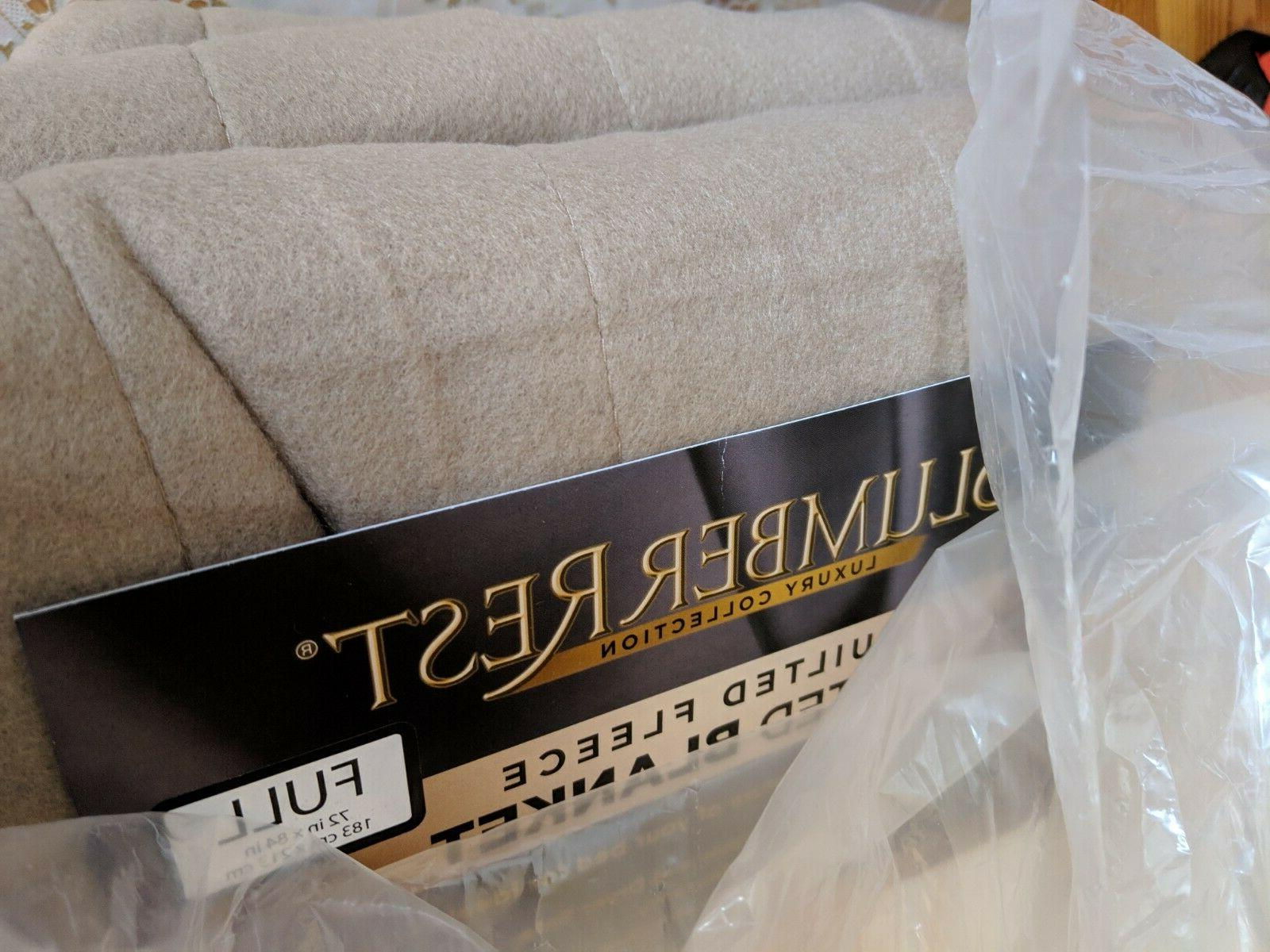 Sunbeam Quilted Heated Electric Blanket Size Mushroom