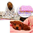 S-XL Soft Warm Fleece Lovely Paw Print Pet Blanket Dog Cat M