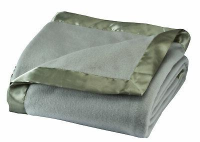 Miles Kimball Satin Fleece Blanket by OakRidge ComfortsTM