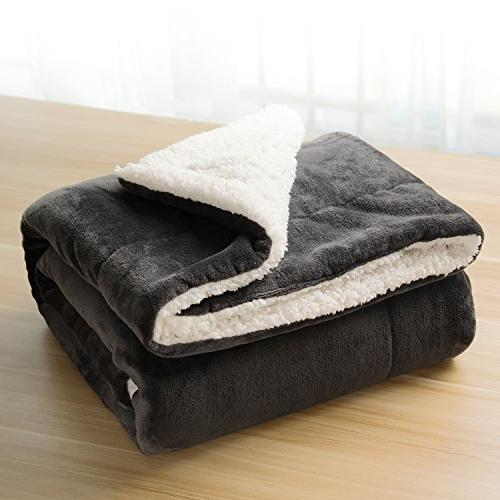 Sherpa Bed Queen size 90x90 Bedding Fleece Large for Bed and