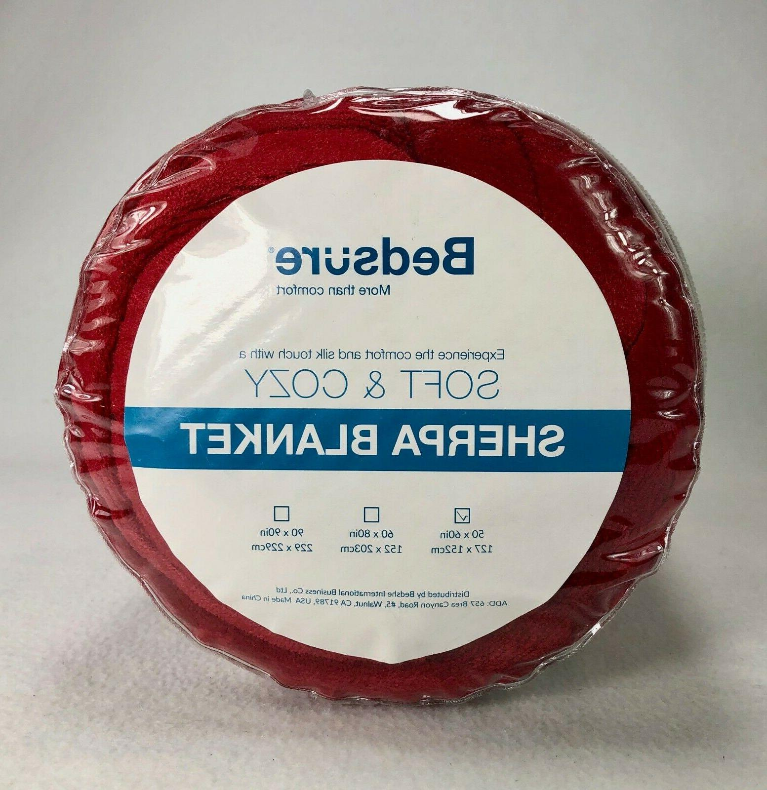 Sherpa Throw Red Plush Soft by