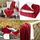 BEDSURE Sherpa Fleece Blanket Twin Size Red Plush Throw Fuzz