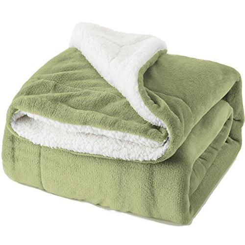 sherpa throw blanket sage green