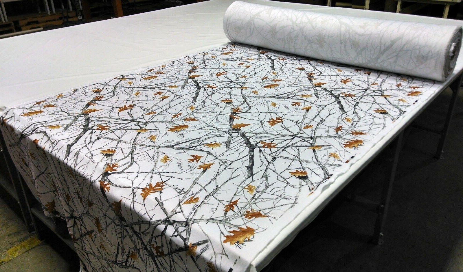 snowfall camo fleece sweatshirt blanket hunting fabric