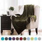 Bedsure Sofa Blanket Throw Bed  Couch Flannel blankets With