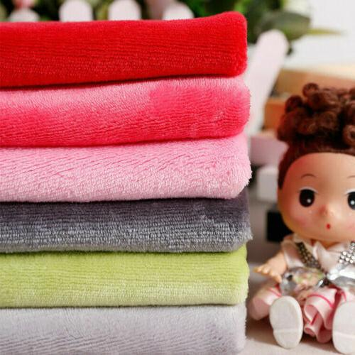 Soft Double Sided Flannel Fleece Fabric Plush Fluffy Cuddle