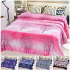 Soft Printed Plush Fleece Blanket For Bed Couch Lightweight