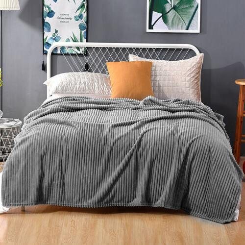 Flannel Reversible Soft Sofa Bed Decor