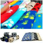 Soft Warm Paw Print Fleece Dog Blanket Mat Cover For Dog Cat