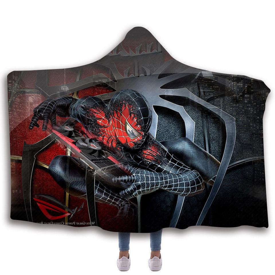 Spiderman Fleece Wearable Printing Blanket