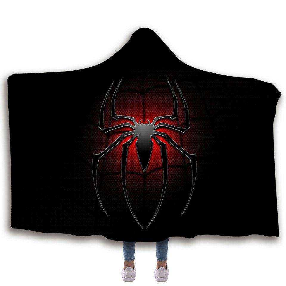 Spiderman Fleece Sherpa Wearable Cloak 3D Printing Throw Blanket