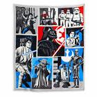 Star Wars Character Patch Plush Throw Blanket Super Soft Mic
