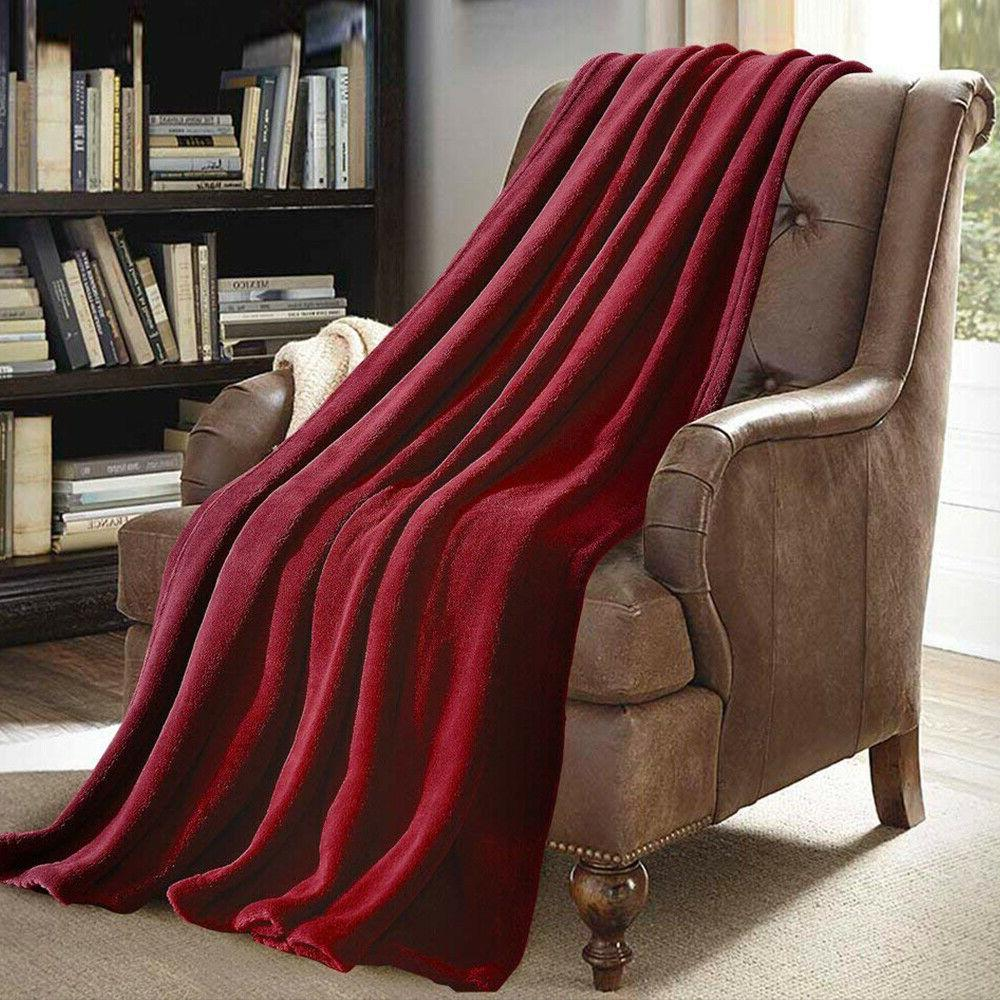 Super Soft Light Weight Coral Warm Throw Blanket Couch/Sofa/Bed/Chair