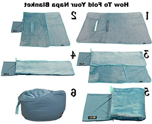 Napa Soft Micro Fleece TV Blanket Poncho Style, Lightweight Cover Wearable Coat Front for Indoors Outdoors Travel