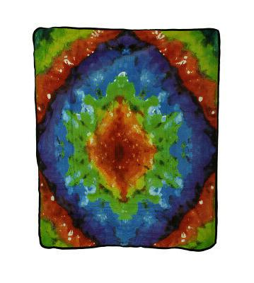 Zeckos Super Soft Tie Dye Pattern Fleece  50 X 60 Inch Throw