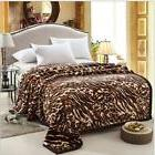 Super Soft Viscose Full Size Fleece Throw Blanket Leopard Pr