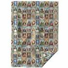 Throw Blanket Fabric Religious Catholic Saints Collage Jesus