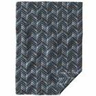 throw blanket indigo chevron hand painted 48