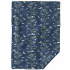 Throw Blanket Japanese Indigo Birds Forest Pine Sky Night Sk