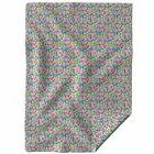 Throw Blanket Rainbow Confetti Hearts Love Colorful Girly Mu