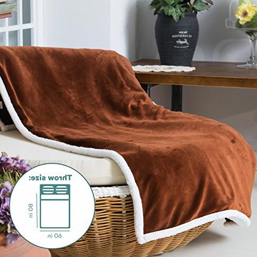 Sable Sherpa Fleece Blanket Bed, Soft Reversible Couch, Twin Size