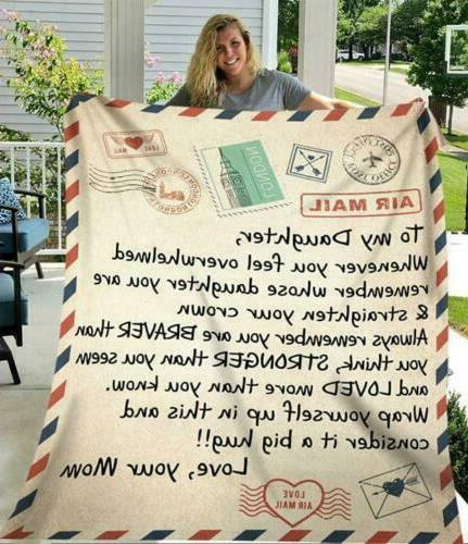To My Daughter Whenever You Feel Overwhelmed Love Mom Quilt,