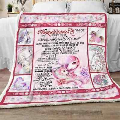 to my granddaughter unicorn sofa fleece blanket