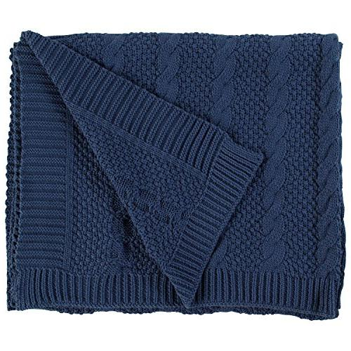 transitional chunky cable knit throw