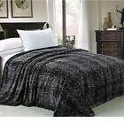 Twin Queen Size Bed Black White Snake Skin Animal Print Warm