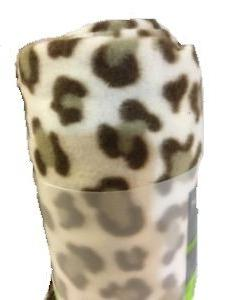 Ultra Soft and Cozy Leopard Fleece Throw Blanket , 50 in x 6