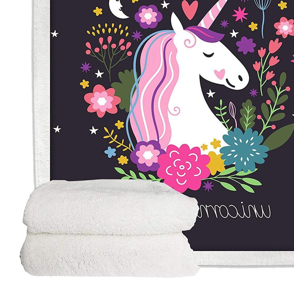 Unicorn Throw Blanket Bedding Soft Plush Bed Blankets